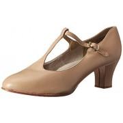 Capezio Jr. Footlight Zapato de Baile con Tira en T para Mujer, Caramelo, 11