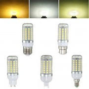 E27 E14 B22 G9 GU10 6W 69 SMD 5050 LED 450Lm Pure White Warm White Natural White Corn Bulb AC220V