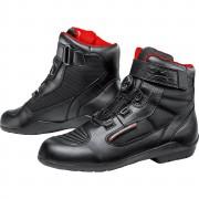 FLM Motorradschuhe, Motorradstiefel kurz FLM Sports Schuh wasserdicht 1.1 schwarz 44 schwarz