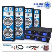 "Set PA Blue Star Series ""Bassveteran Quadro"" 3200 Watt"