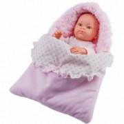 Papusa bebelus in portbebe roz - MINI PIKOLIN Paola Reina
