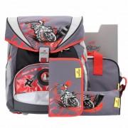 DerDieDas Ergo Flex Bolsas y accesorios escolares (set de 5) ninja on bike