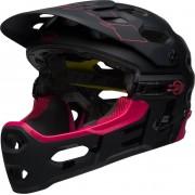 Bell Super 3R Mips Downhill Casco Negro Rosa L