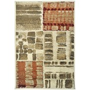 Covor Decorino Patchwork C23-032003, Bej/Verde/Maro, 100x150 cm