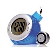 Despertador sin pila con agua azul