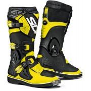 Sidi Flame Niños botas de Motocross Negro Amarillo 34