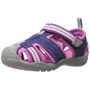 pediped Sahara Flex Water Sandal (Toddler/Little Kid),Navy/Pink,21 EU (5.5 M US Toddler)