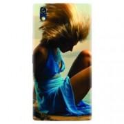 Husa silicon pentru Allview X2 Soul Style Girl In Blue Dress