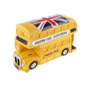 Magideal Random British Style London Double-decker Bus Money Box Piggy Bank Kids Gift