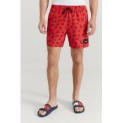 Calvin Klein Underwear Badshorts Medium Drawstring-Print Röd