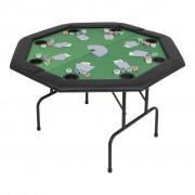 Sonata Сгъваема покер маса за 8 играчи, осмоъгълна, зелена