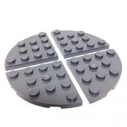 Lego Parts: Plate Round Corner 4 x 4 (PACK of 4 - DBGray)