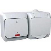 CEDAR PLUS Csatlakozóaljzat védőföldelt + kétpólusu kapcsoló jelzőfénnyel 16 A IP44 WDE000503 - Schneider Electric