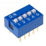 Life Dip Switch 5 Poli Per Circuiti Stampati Passo 2,54 Mm Tcs