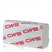 CWS-boco Deutschland GmbH CWS Multifold Faltpapier, 2-lagig, weiß, Hochwertiges Handtuchpapier aus 100% Zellstoff, Z-Falz, 1 Karton = 25 x 150 = 3750 Blatt