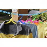 3.5 Meters Windproof Anti-Slip Clothes Drying Nylon Rope with Hooks