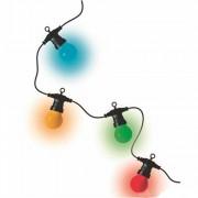 Kültéri fényfüzér színes LED-gömbök 10db 9m LPL 10