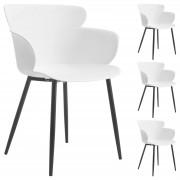 IDIMEX Esszimmerstuhl CATCH im 4er Pack modernes Design in weiß