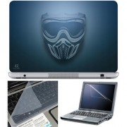 Finearts Laptop Skin 15.6 Inch With Key Guard & Screen Protector - Mask On Blue