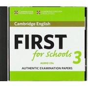 Cambridge English First for Schools 3 Audio CDs(CD-Audio) (9781108433815)