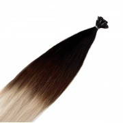 Rapunzel® Extensions Naturali Nail Hair Original Liscio O1.2/99.6 Grey Black Brown Grey Ombre 40 cm