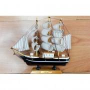 Fa hajó makett, 20cm