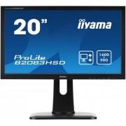 "Monitor TN iiyama 19.5"" ProLite B2083HSD-B1, VGA, DVI-D, 5ms, Boxe (Negru)"