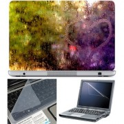 Finearts Laptop Skin 15.6 Inch With Key Guard & Screen Protector - Heart Water Drop
