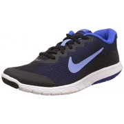 Nike Women's Flex Experience Rn 4 Black and Blue Running Shoes - 4 UK/India (36.5 EU)(4.5 US)