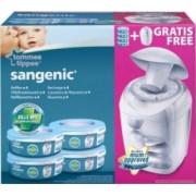 Tommee Tippee - Pachet 4 Rezerve Sangenic + Cos pentru scutece Hygiene Plus Gratuit