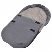 vidaXL Footmuff/Bunting Bag for Baby Carrier/Car Seat 75x40 cm Grey