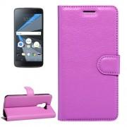 For BlackBerry DTEK60 Litchi Texture Horizontal Flip Leather Case with Magnetic Buckle & Holder & Card Slots & Wallet(Purple)