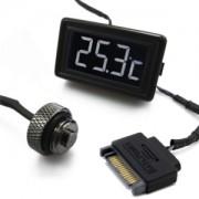 Senzor de temperatura XSPC LCD Temperature Display (Black/White) V3 + G1/4 Plug Sensor