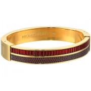 Michael Kors Color Crush Baguette Cut Crystal Hinge Bracelet Gold
