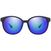 TOM MARTIN Round Sunglasses(Blue)