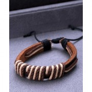 Dare by Voylla Black Leather Thread Wrap Bracelet from Cool Stacked