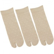 Nandini Women 3 Pairs Cotton Skin Color Ankle Length Thumb Socks