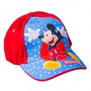 Mickey 50-52 piros kékkel és fehér pontokkal fiú sapka