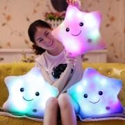 Promotion Colorful Star Pillows Led Light Luminous Pillow Soft Kawaii Plush light Pillow Cushion Stuffed Doll Kids Toys Gifts