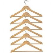 M-I-N-D-E-R New Best Quality Beautiful Smart Wonderful Wooden Hangers ( Set Of 6 Pcs. )