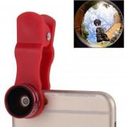 2 En 1 Universal 15x Marco Lente + 0.63x Amplia Lente Con Clip Para El IPhone, Samsung, Nokia, Sony, HTC, Huawei Y Otros Smartphones (rojo)