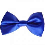 Vlinderstrik glimmend blauw