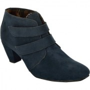 Exotique Womens Blue Casual Boots(EL0031BL)