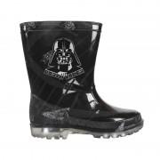 Star Wars Zwarte Star Wars regenlaarzen met lichtjes voor jongens 25-26 - Regenlaarzen