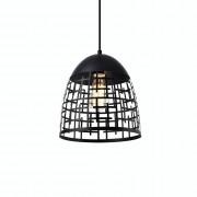 [lux.pro]® Dekoratívna dizajnová design závesná lampa HT169910 - čierna (1 x E27)