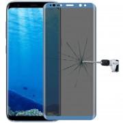 Para Samsung Galaxy S8 / G950 0.3mm 9h La Dureza De La Superficie 3D Curvo De La Pantalla De Seda Pantalla Completa Privacidad Antideslumbrante Protector De Pantalla De Vidrio Templado (azul)