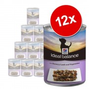 Hill's Canine Ideal Balance Adult 12 x 363 г - задушено агнешко и зеленчуци