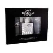 David Beckham Respect 90Ml Edt 90 Ml + Shower Gel 200 Ml + Deodorant 150 Ml Per Uomo (Eau De Toilette)