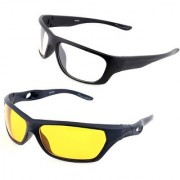 Day & Night Night Club Night Real Club Night View Driving NV Best Quality Glasses In Best Price Pack of 2 (AS SEEN ON TV)