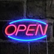 LED informačná tabuľa svietiaca - OPEN
